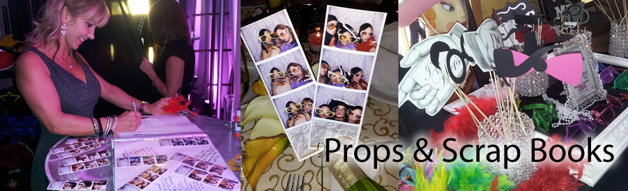 props and scrap books rental for photobooths