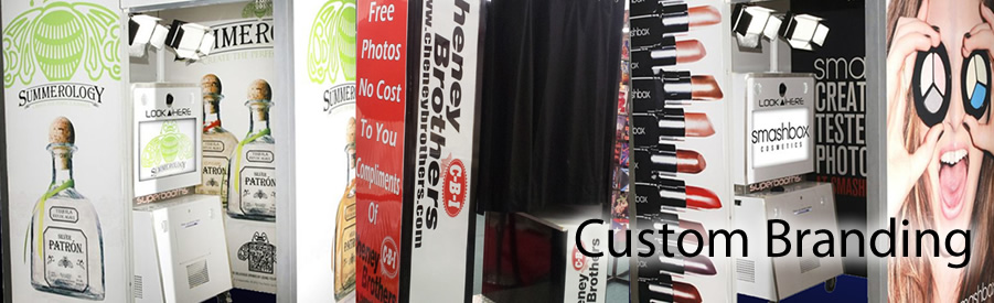 Custom branded photobooth