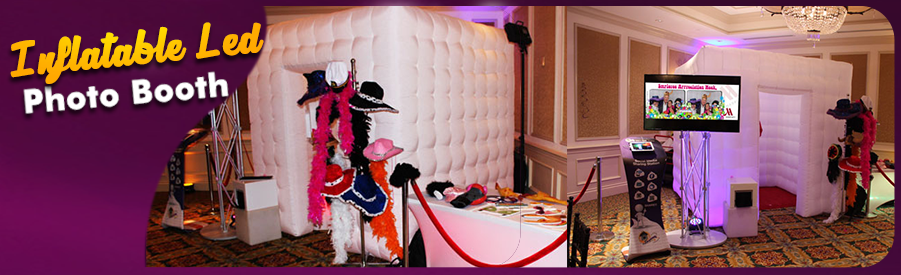 sliders Inflatable Led Photo booth