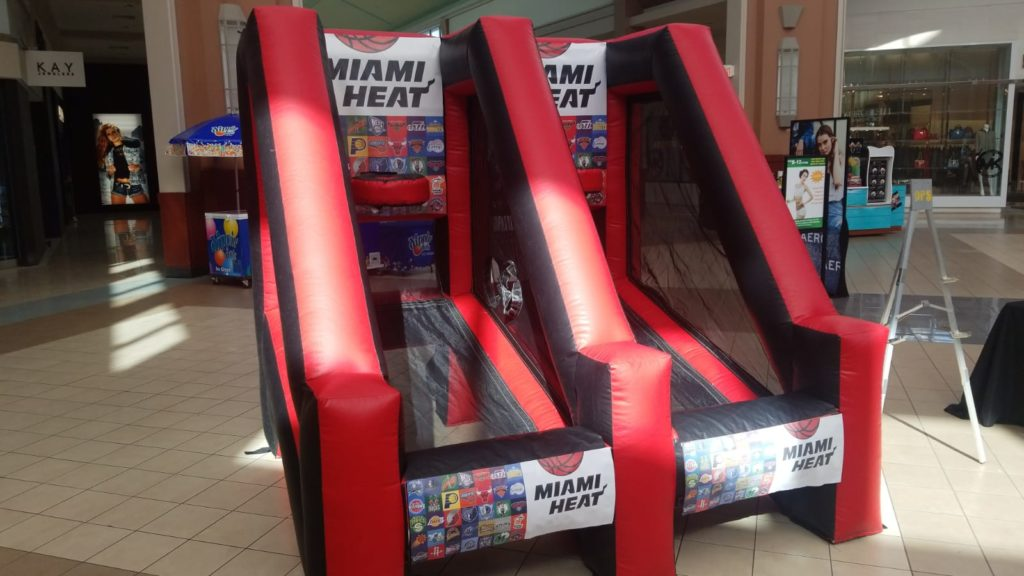 LED Selfie roving photo booth FotoBoys had a great time with the Miami Heat at the Pembroke Lakes Mall