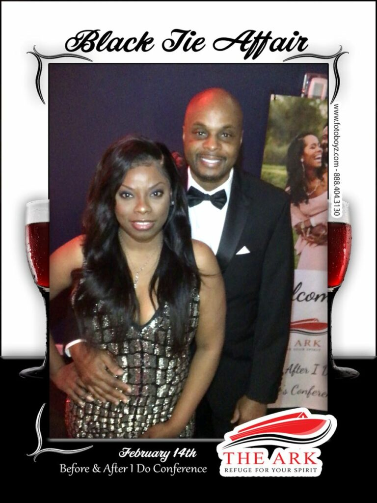 Ark of god black tie affair led roving photo booth 4