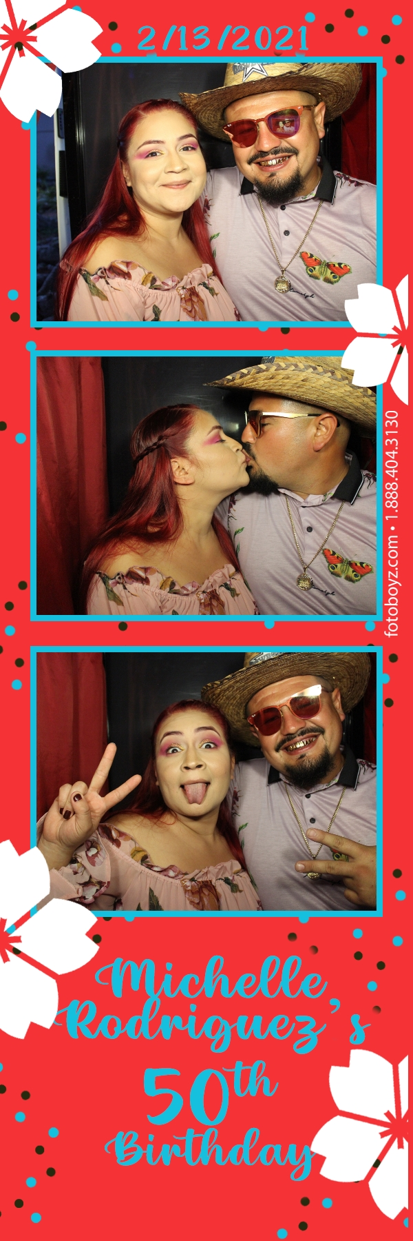 Michelles 50th birthday vintage sit down photo booth 1