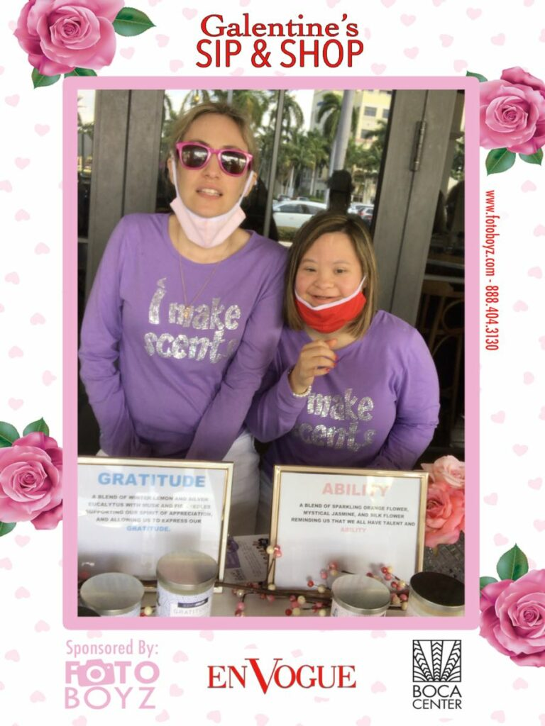 galentines sip and shop 2021 led roving photo booth 2