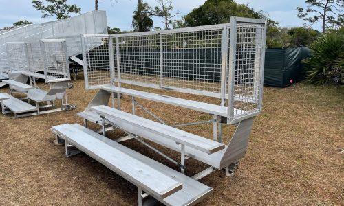 Bleacher Rentals 3 row foldable 1 front