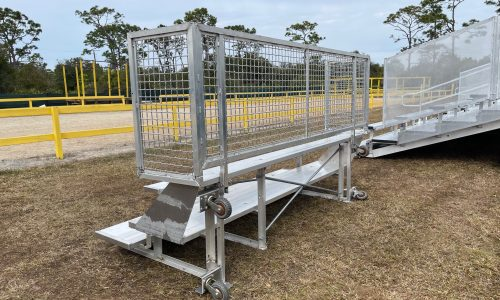 Bleacher Rentals 3 row foldable back