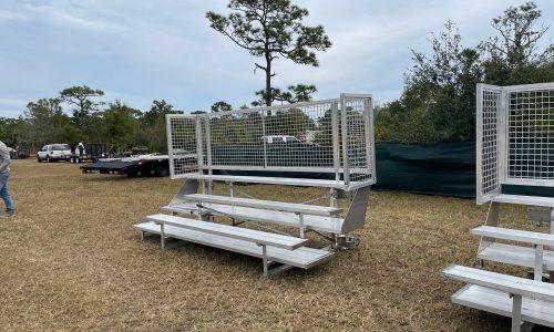 Bleacher Rentals 3 row foldable front distance