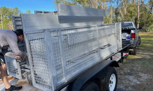 Bleacher Rentals 3 row foldable trailer